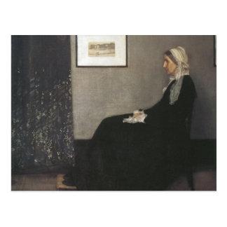 Disposition dans gris et noir - la mère de carte postale