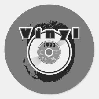 Disque 1973 du VINYLE 45 t/mn Adhésif Rond