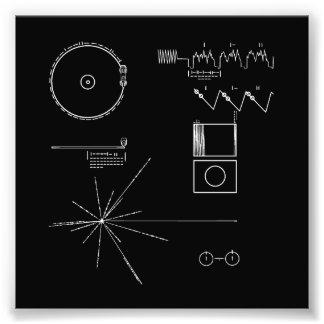 Disque d'or de la NASA Voyager Photographes