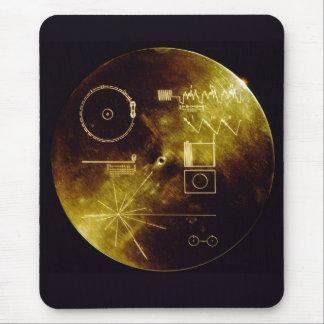 Disque d'or de Voyager Tapis De Souris