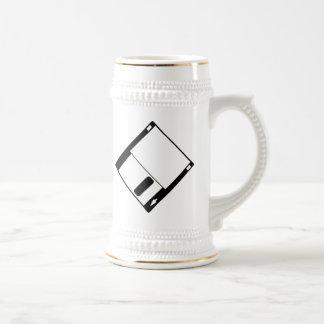 Disque vintage d ordinateur mugs à café