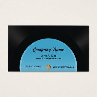 Disque vinyle cartes de visite