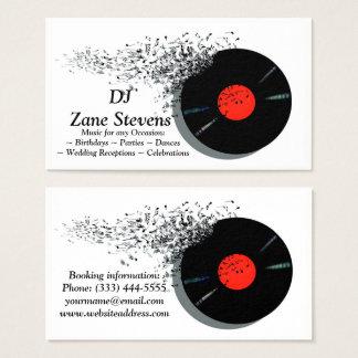 Disque vinyle de jockey de disque du DJ de Cartes De Visite