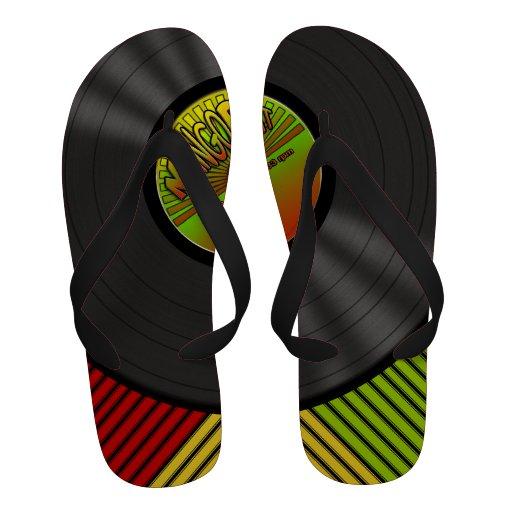 Disque vinyle drôle de reggae sandales
