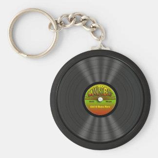 Disque vinyle personnalisé de reggae porte-clés
