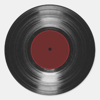 disque vinyle sticker rond