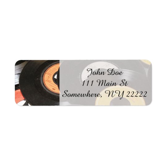 Disques du cru 45rpm étiquette d'adresse retour