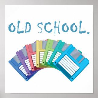 disquettes de vieille école affiche