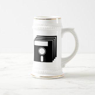 Disquettes vintages tasse