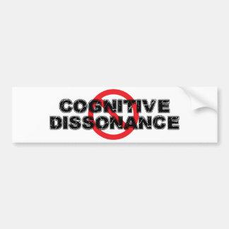 Dissonance cognitive d'interdiction autocollant de voiture