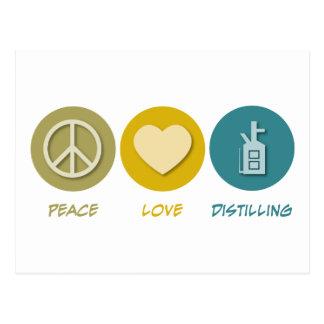 Distillation d'amour de paix carte postale