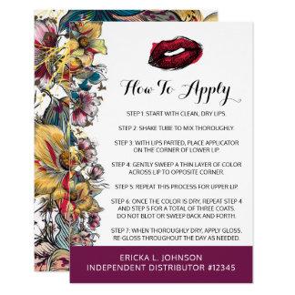 Distributeur de rouge à lèvres comment appliquer carton d'invitation 8,89 cm x 12,70 cm