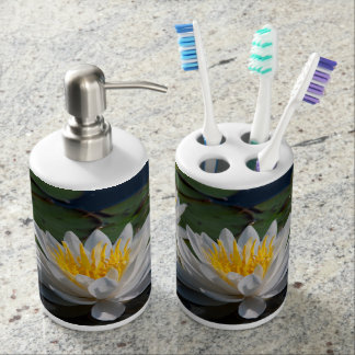 Distributeur de savon de nénuphar et support de