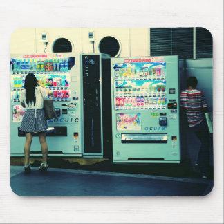 Distributeurs automatiques en carte postale du tapis de souris