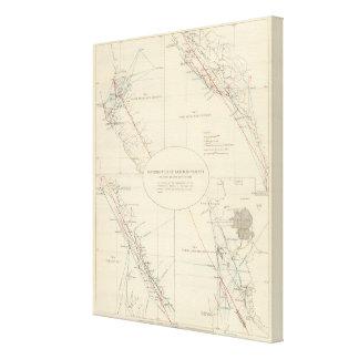 Distribution de mouvement de terrain en Californie Toiles