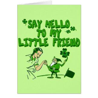 Dites bonjour à mon petit ami carte de vœux