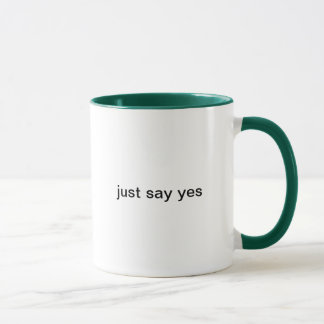 dites juste oui tasses