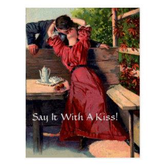 Dites-le avec un baiser ! - Carte postale
