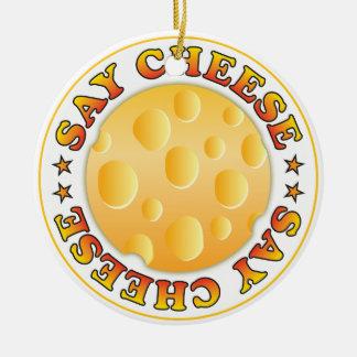 Dites le fromage ornement rond en céramique