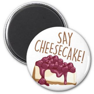 Dites le gâteau au fromage magnet rond 8 cm