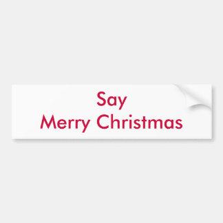 Dites le Joyeux Noël Autocollant Pour Voiture