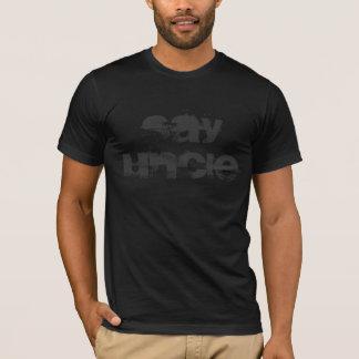 Dites l'ONCLE T-shirt noir