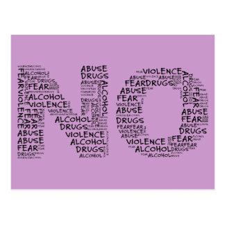 Dites non à la violence, à l'abus, aux drogues, à cartes postales