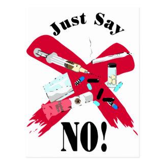 Dites non aux drogues carte postale