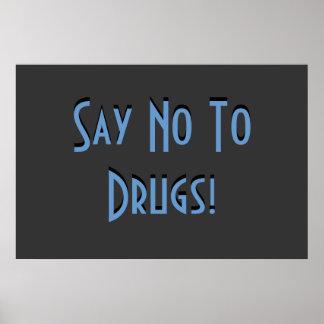 Dites non aux drogues poster