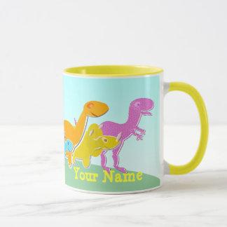Dites Rawr ! Tasse nommée de dinosaures