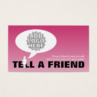 dites une référence d'ami comique cartes de visite
