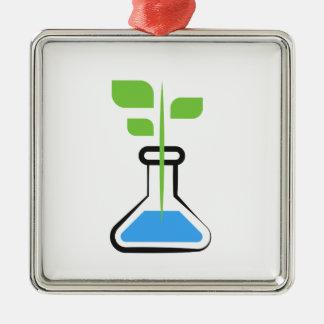 Diva de la Science (biologie) Ornement Carré Argenté