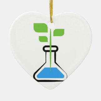 Diva de la Science (biologie) Ornement Cœur En Céramique