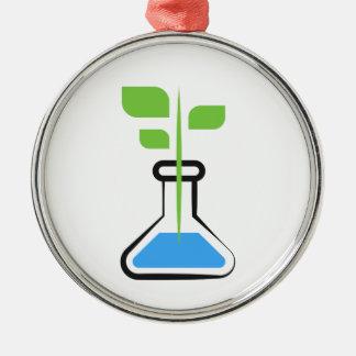 Diva de la Science (biologie) Ornement Rond Argenté