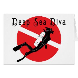 Diva de mer profonde carte de vœux