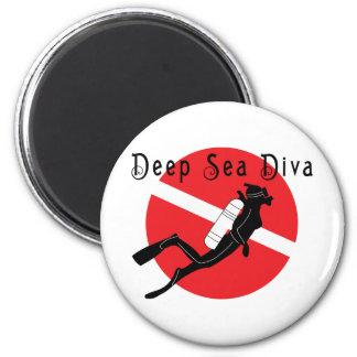 Diva de mer profonde aimants pour réfrigérateur