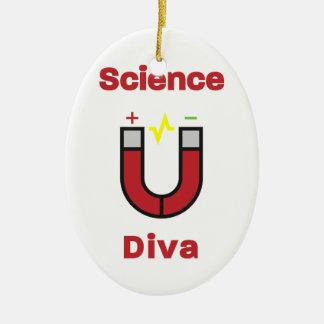 Diva magnétique de la Science Ornement Ovale En Céramique