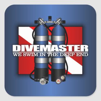 Divemaster (réservoirs de scaphandre) sticker carré