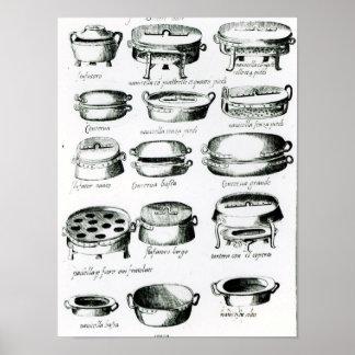 Divers navires de cuisine, 1570 posters