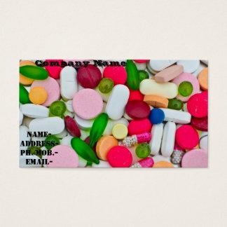 Divers pilule/médicament cartes de visite