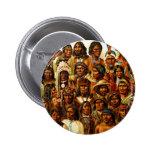Diverses tribus de collage indigène d'Indiens d'Am Badge Avec Épingle