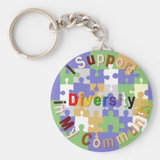 Diversité de soutien dans mon porte - clé de la porte-clé rond
