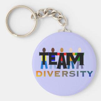 Diversité d'équipe porte-clé rond
