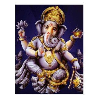 Divinité indoue d'éléphant asiatique de Ganesh Carte Postale