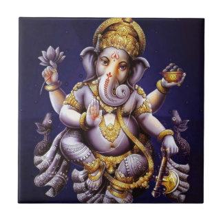 Divinité indoue d'éléphant asiatique de Ganesh Petit Carreau Carré