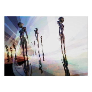 Diviseurs légers - affiche surréaliste d'art