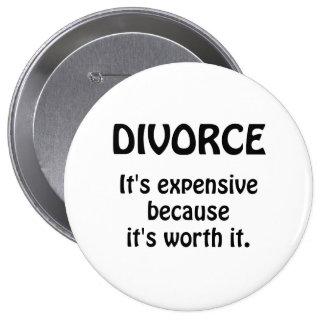 Divorce en valeur lui badge rond 10 cm