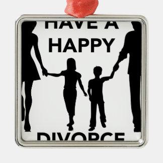 divorce ornement carré argenté