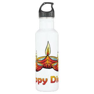 Diwali heureux bouteille d'eau en acier inoxydable
