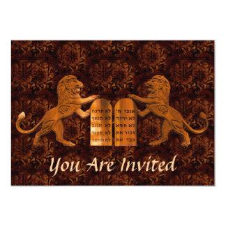 Dix barres de commandements et de lions/bat carton d'invitation  12,7 cm x 17,78 cm